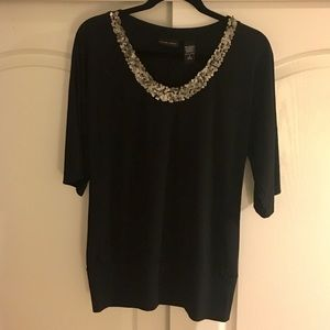 New York & Company Blouse with Sequins